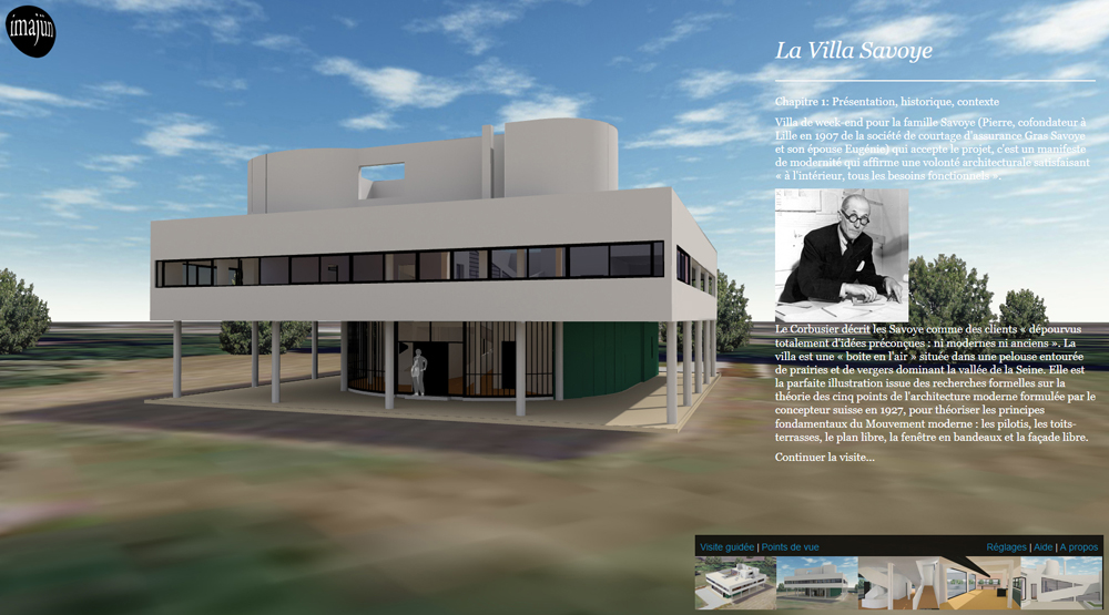 Virtual tour of the Villa Savoye by Le Corbusier | Imajün