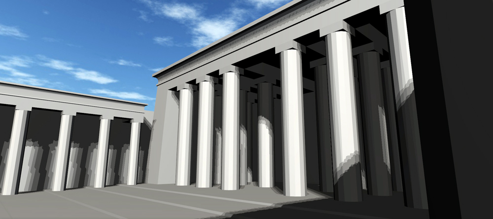 Horus Temple in Edfu, Main courtyard 03 (www.imajun.eu)